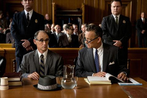 Mark Rylance l'espion soviétique et Tom Hanks l'avocat américain (©20th Century Fox).