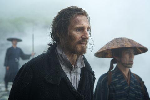 Dans le Japon féodal où les catholiques sont persécutés, Liam Neeson joue le rôle d'un prêtre porté disparu (©Kerry Brown/Metropolitan FilmExport).
