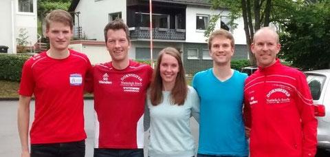 v.l.: Nils Schäfer, Sven Daub, Ina Rademacher, Steffen Grebe, Thomas Schönauer