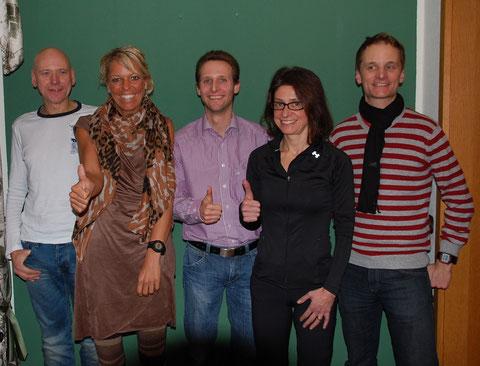 v.l.n.r: Sascha Wilkniß, Christl Dörschel, Markus Mockenhaupt, Mara Lückert, Knut Seelbach.   Foto: Miriam Hubmayer