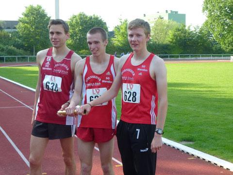 v.l.: Simon Huckestein, Florian Herr und Marco Giese