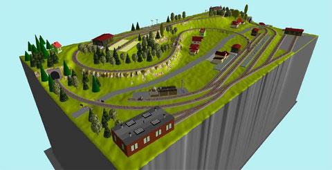Gleisplan 3D
