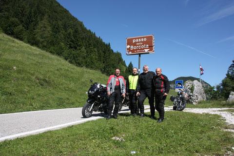 Auf der Passhöhe des Borcola
