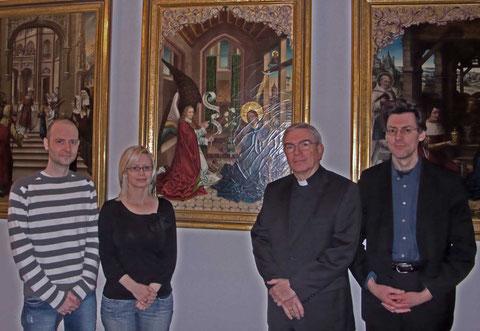 Mario und Barbara Martin,  Weihbischof Dr. Thomas Löhr und Pfarrer Joachim Metzner CO