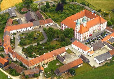 Kloster Speinshart von oben (Luftbild A. Laumer, Weiden)