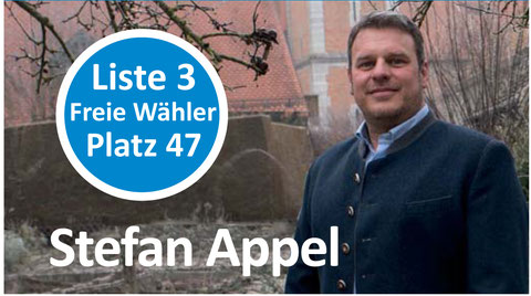 Stefan Appel, Liste 3, Platz 31.