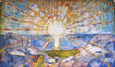 The sun, Edvard Munch (University of Oslo)