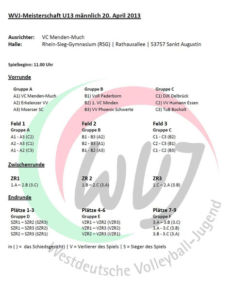 Spielplan WDM mU13