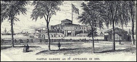 Castle-Garden en 1850 (cliquez sur l'image)