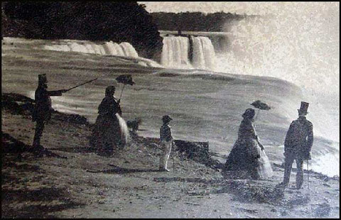 Chutes du Niagara vers 1850 (cliquer sur l'image)