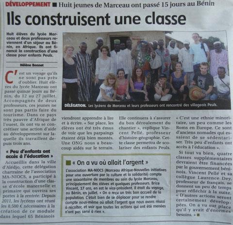 Article paru dans L'Echo du 13 août 2013