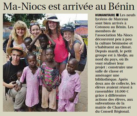 Article paru dans L'Echo le 18 juillet 2013
