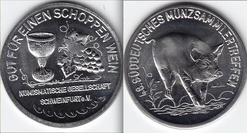Geprägt am 21.September 2013 vor dem Schweinfurter Rathaus - bitte vergrößern