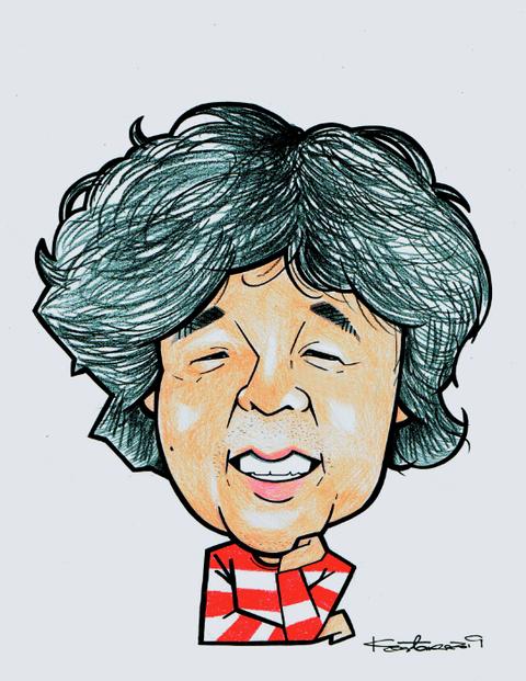 茂木健一郎の似顔絵