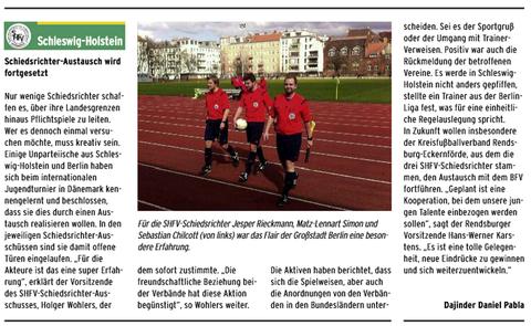 Schiedsrichteraustausch zwischen Rendsburg und Berlin