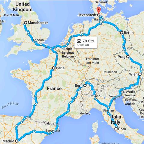 8.074 Kilometer sind P. Sommer und D. Pabla in der Saison 2014/15 zu ihren Spielen als Schiedsrichter gefahren - eine Strecke, mit der sich fast halb Europa entdecken lässt