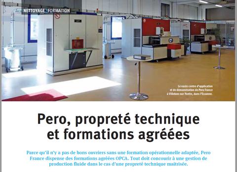 Pero France et son centre de formation un des leaders européens pour la conception et la réalisation d'installations de nettoyage de pièces en milieux lessiviels et solvants
