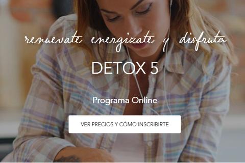 Programa Online DETOX5 - Renuévate, energízate y disfruta