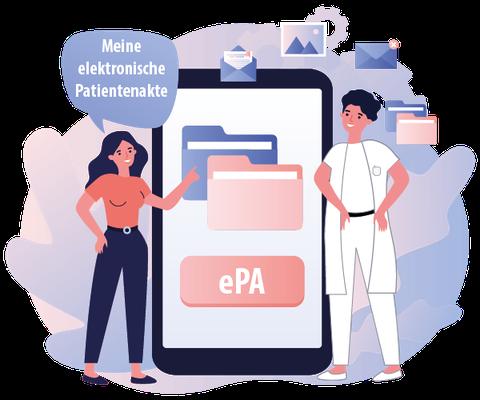 ePA elektronische Patientenakte TI-Fachmodule Fachmodule TI Telematikanwendungen Telematik Anwendungen