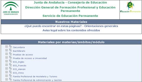 PORTAL DE AGREGA DE LA JUNTA DE ANDALUCÍA