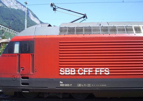 Sargans am 24. Juli 2008 mit dem IR 769
