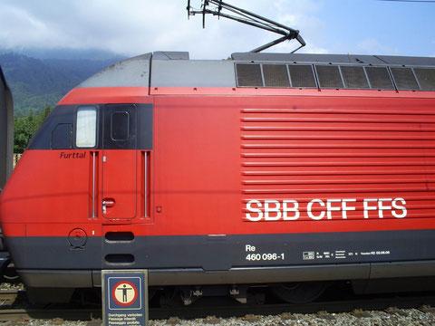 Der Ankommende Zug 35433 in Trübbach beim Wenden auf den abghenden Zug 35434 am 27. Juli 2008