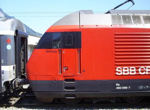 Sargans am 25. Juli 2008 mit dem IC 569