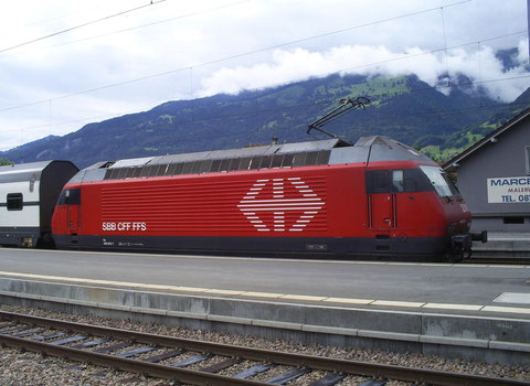 Sargans am 09. August 2008 mit dem IC 565