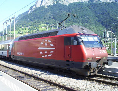 Sargans am 31. Juli 2008 mit dem IR 765