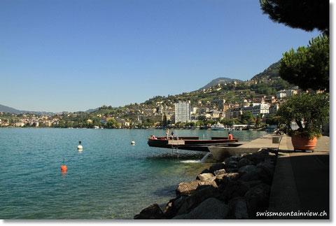 Blick Richtung Montreux, Vevey.