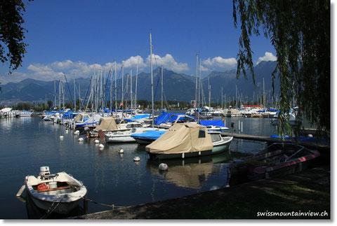 Hafen von Le Bouveret.