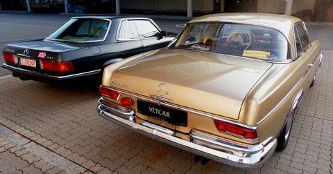 Mercedes-Benz Oberklasse-Coupes...klassisch elegante Heckansicht.