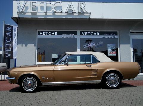 "`67er Mustang V8 Cabrio sieht ""geschlossen"" auch sehr gut aus..."
