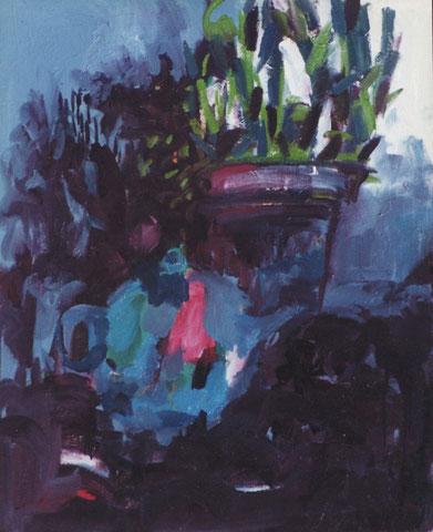 Théière pacifique.1996. Huile sur toile.100X81 cm.