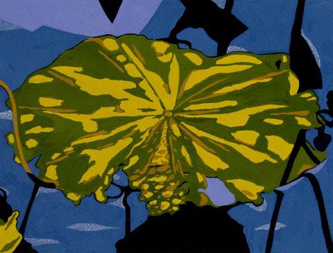 Lotus E4. Gouache sur papier. 24x18 cm. 2012