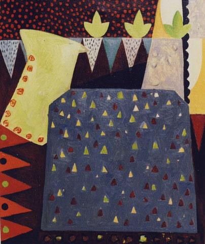Sans titre.1999. Huile sur toile. 65X54 cm.