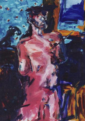 Firmament.1996.Huile sur toile. 100X81 cm.Collection privée.