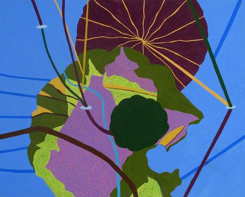 Lotus D4.Gouache sur papier. 50x40 cm. 2012.