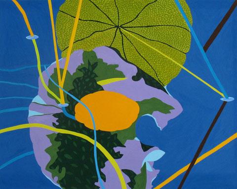 Lotus D3.Gouache sur papier. 50x40 cm. 2012.