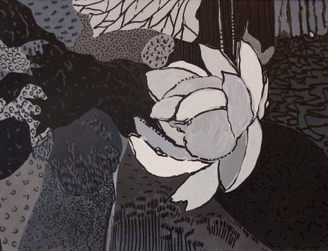 Lotus G. Gouache sur papier. 18x24 cm. 2011.