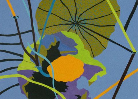 Lotus D2.Gouache sur papier.18x13 cm. 2012.Collection particulière..