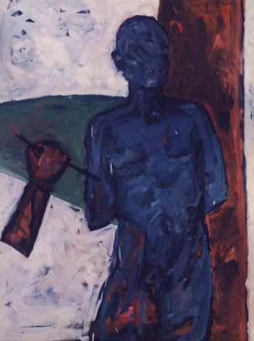 Lucine.1996. Huile sur toile. 116X81 cm.