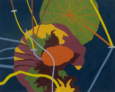 LotusD5.Gouache sur papier.30x24 cm. 2012.