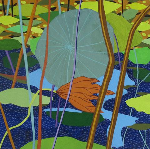 Lotus G.gouache sur papier. 25x25 cm. 2012.