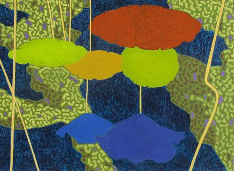 Lotus parapluie1.Gouache sur papier.2010.