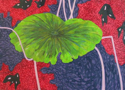Lotus E2.huile sur toile. 20P (53x73 cm). 2011.