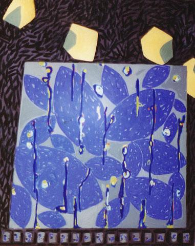Pierre à la menthe.1999. 100X81 cm.