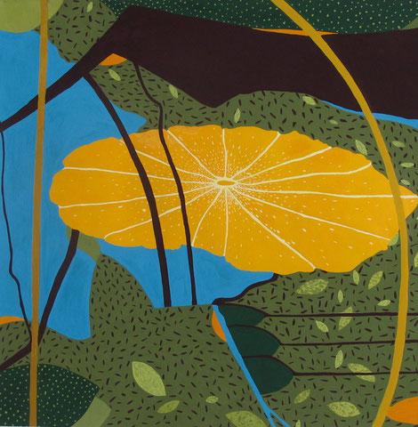 Lotus C2.Gouache sur papier. 40x40 cm. 2011. Collection particulière.