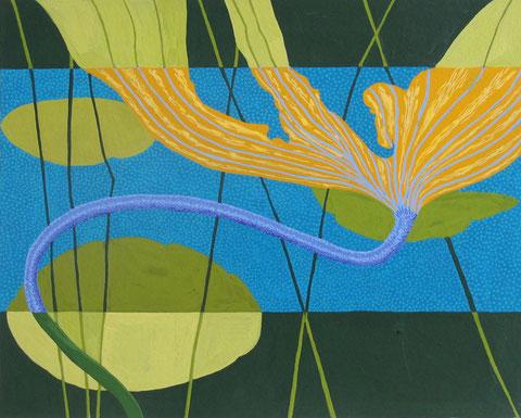 Lotus F3.Gouache sur papier.30x24 cm. 2012.