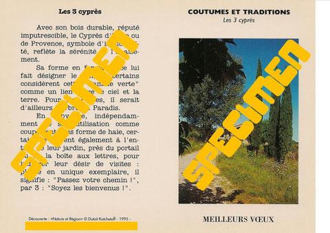 """COUTUMES et TRADITIONS - """"Les 3 Cyprès"""""""